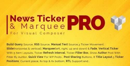 Pro News Ticker & Marquee for Visual Composer :...