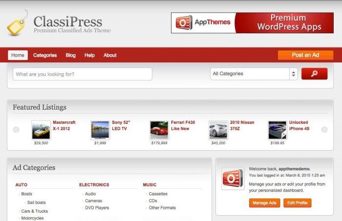 AppThemes – ClassiPress