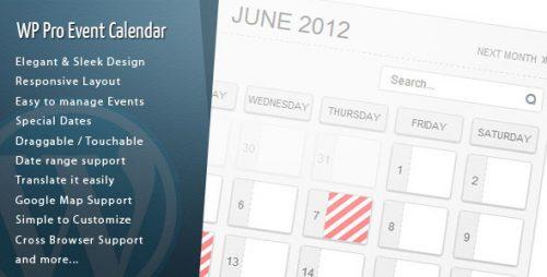 WordPress Pro Event Calendar [更新至3.1.0]插件英文版