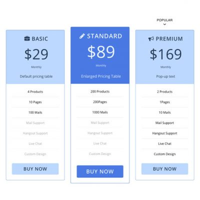 Themify – Builder Pricing Table