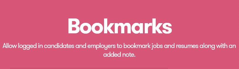 WP Job Manager – Bookmarks