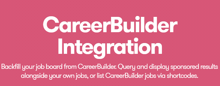 WP Job Manager – Career Builder Integration