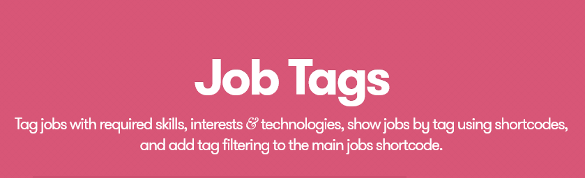 WP Job Manager – Job Tags