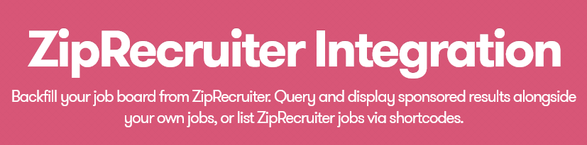 WP Job Manager – ZipRecruiter Integration