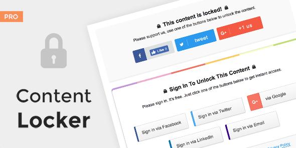 MyThemeShop – Content Locker – Pro