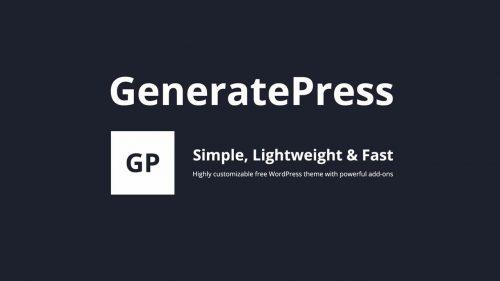 GP Premium – GeneratePress Theme Framework Premium Add-Ons