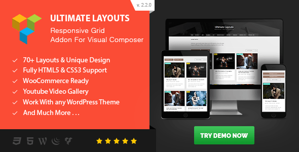 Nulled] Ultimate Layouts - Responsive Grid & Youtube Video