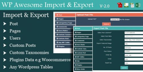 nulled wordpress awesome import export plugin v2 7