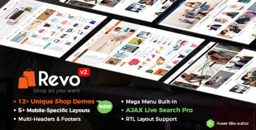 Revo – Multi-purpose WooCommerce WordPress Theme (Mobile Layouts Included)