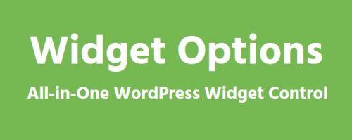 Extended Widget Options – All-in-One WordPress Widget Control