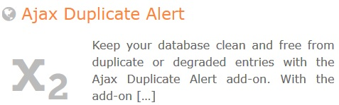 GeoDirectory – Ajax Duplicate Alert