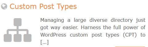 GeoDirectory – Custom Post Types