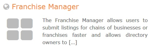 GeoDirectory – Franchise Manager