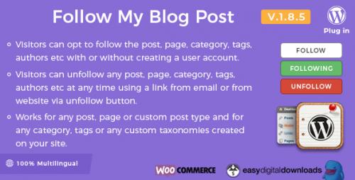 Follow My Blog Post – WordPress Plugin