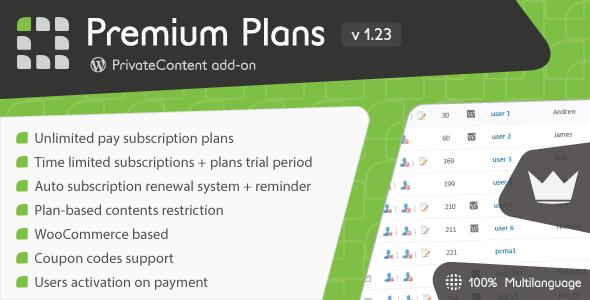 PrivateContent – Premium Plans add-on