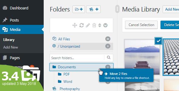 WordPress Real Media Library – Media Categories / Folders...