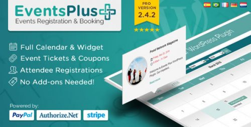 Nulled] Events Calendar Registration & Booking v2 4 7 - Null Club