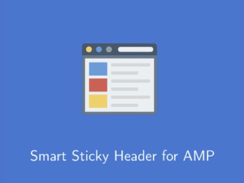 AMP – Smart Sticky Header