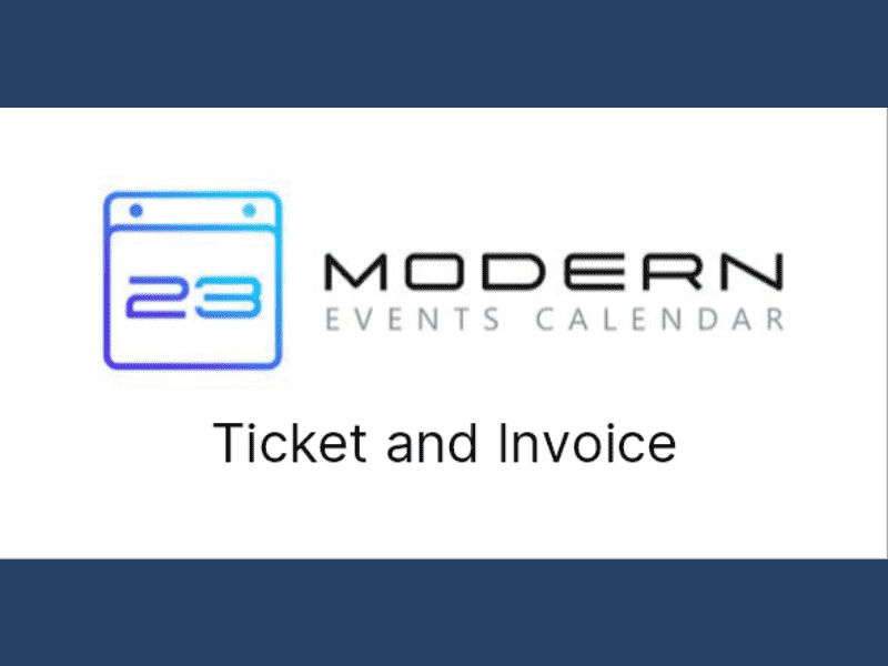 Modern Events Calendar – Ticket and Invoice