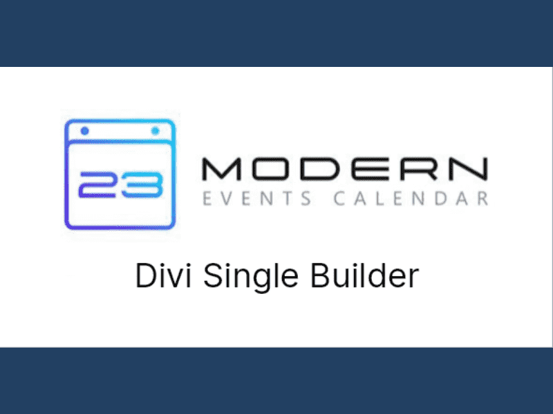 Modern Events Calendar – Divi Single Builder for MEC