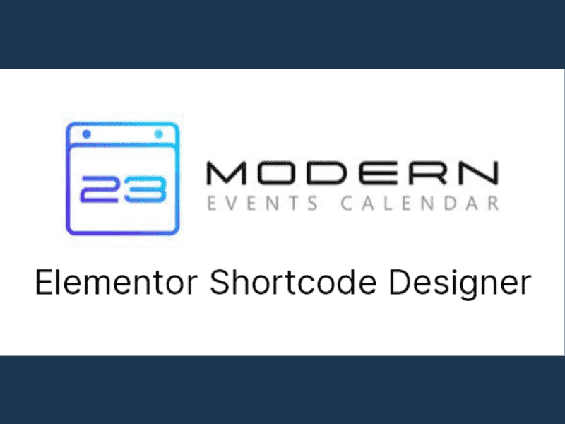 Modern Events Calendar – Elementor Shortcode Designer