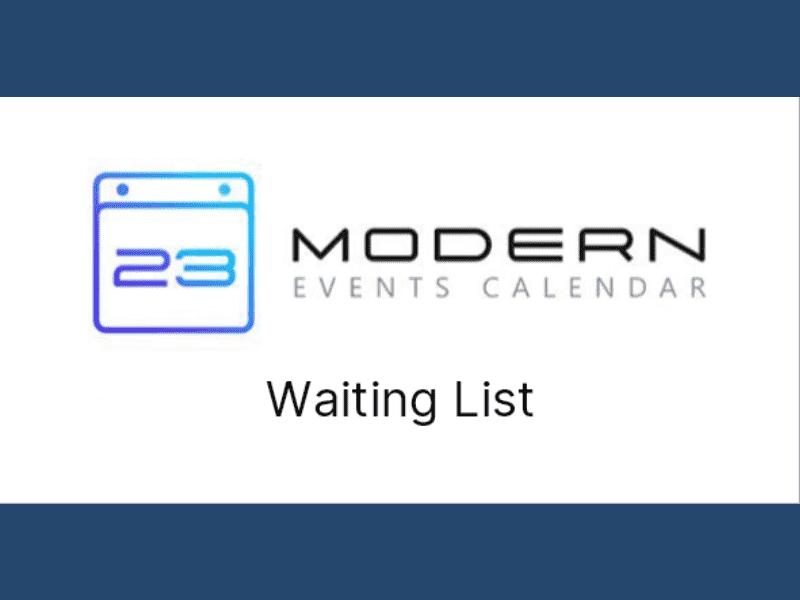 Modern Events Calendar – Waiting List