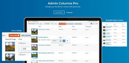 Admin Columns Pro – Manage columns in WordPress
