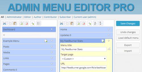 Admin Menu Editor Pro + Toolbar Editor
