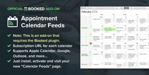 Booked Calendar Feeds (Add-On)