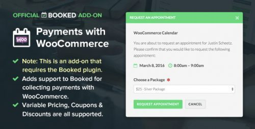 Booked Payments with WooCommerce (Add-On)