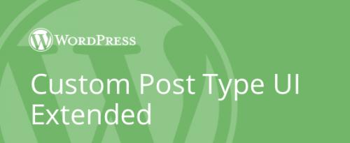Custom Post Type UI Extended by WebDevStudios