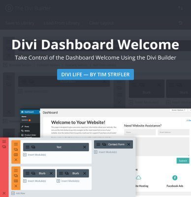 Divi Life – Divi Dashboard Welcome