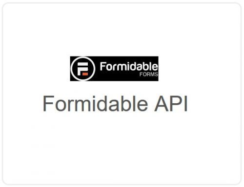 Formidable Forms – API