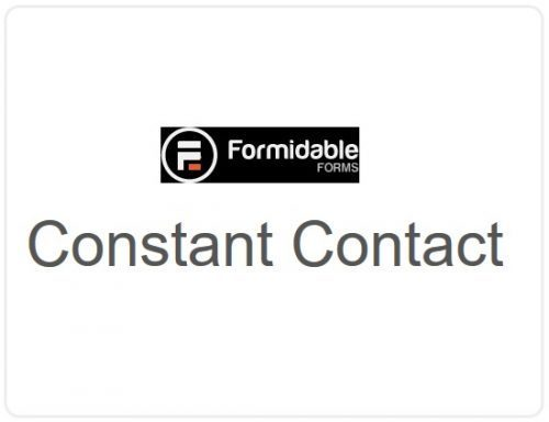 Formidable Forms – Constant Contact