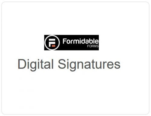Formidable Forms –  Digital Signatures