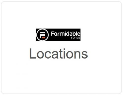 Formidable Forms – Locations