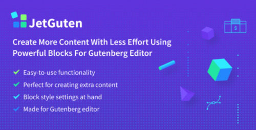 JetGuten – Blocks Set Addon for Gutenberg Editor