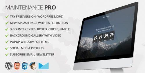 Maintenance PRO – WordPress plugin