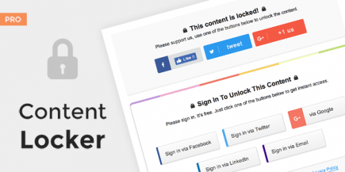 MyThemeShop – Content Locker – Pro