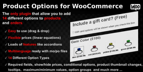 Product Options for WooCommerce – WordPress Plugin