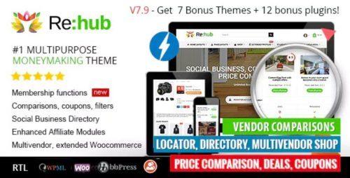 REHub – Price Comparison, Affiliate Marketing, Multi Vendor Store, Community Theme