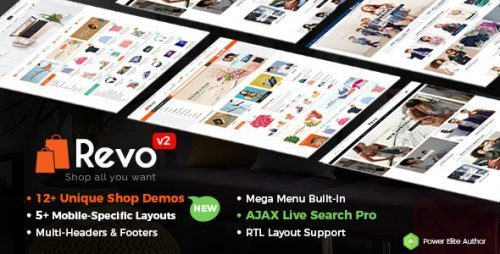Revo – Multi-purpose WooCommerce WordPress Theme (Mobile Layouts Included)