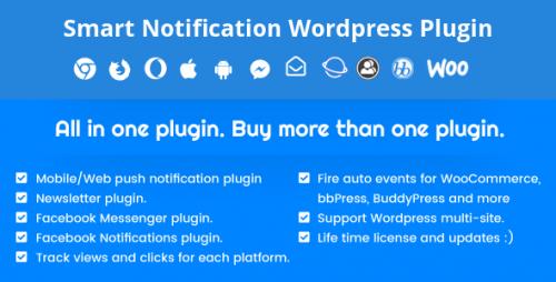 Smart Notification WordPress Plugin. Web & Mobile Push, FB Messenger, FB Notifications & Newsletter