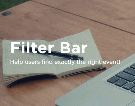 The Events Calendar: Filter Bar