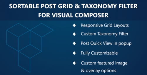 Visual Composer – Sortable Grid & Taxonomy filter