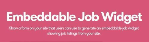 WP Job Manager – Embeddable Job Widget