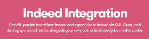 WP Job Manager – Indeed Integration