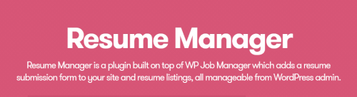 WP Job Manager – Resume Manager