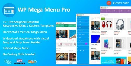 WP Mega Menu Pro – Responsive Mega Menu Plugin for WordPress