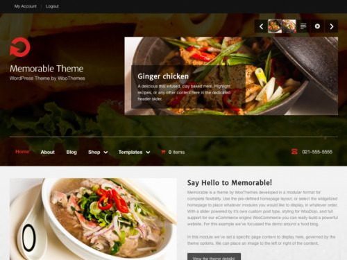 WooThemes – Memorable